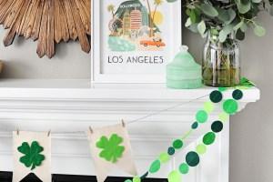 Cute and Easy Felt and Canvas Shamrock Pennant Banner