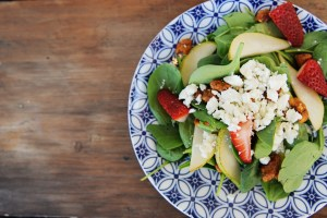 Strawberry, Feta and Spinach Spring Salad Recipe
