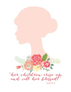 Mothers day silhouette print