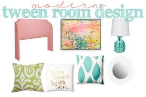 Fresh and Modern Tween Room Design