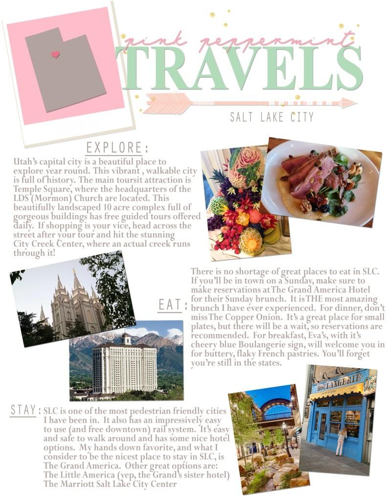 Pink Peppermint Travels Blog Salt Lake City Travel Tips