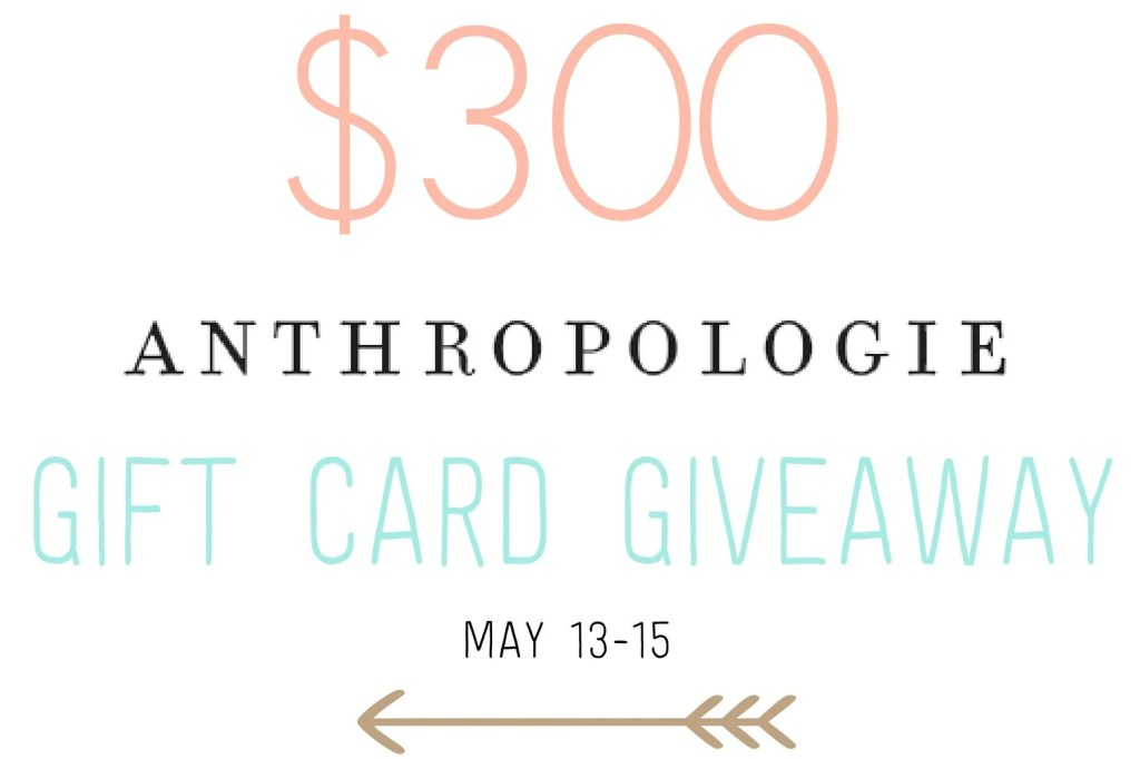 anthropologie giftcard giveaway