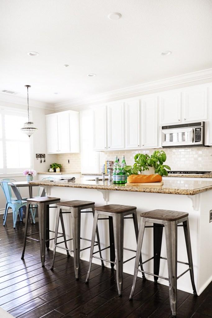 white kitchen makeover remodel