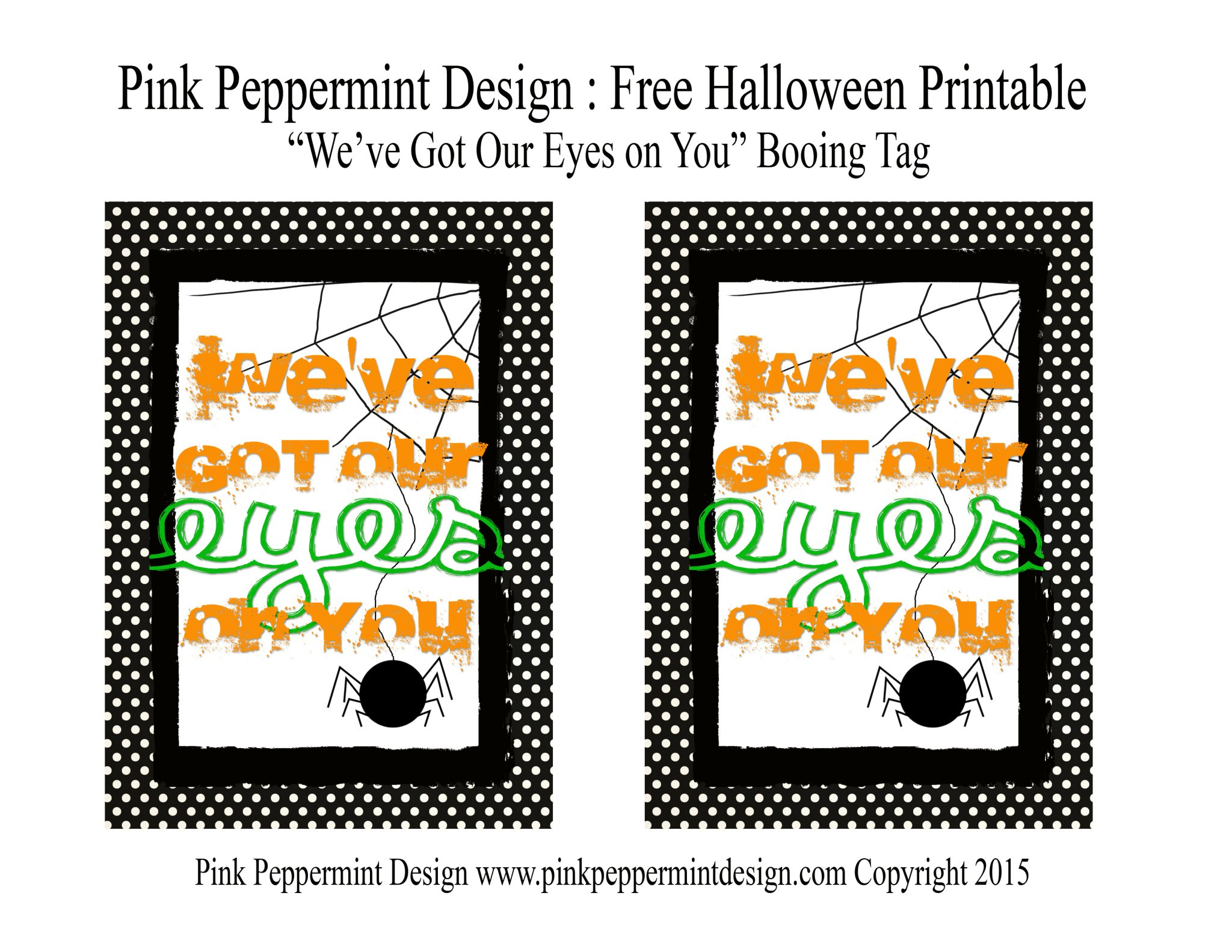 photo regarding Printable Halloween Tag identify Cost-free Halloween Printable: \