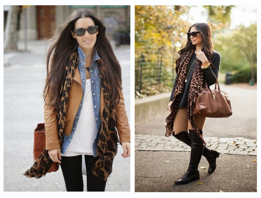 Mixing Brown, Black and Animal Print Style Outfits Fashion
