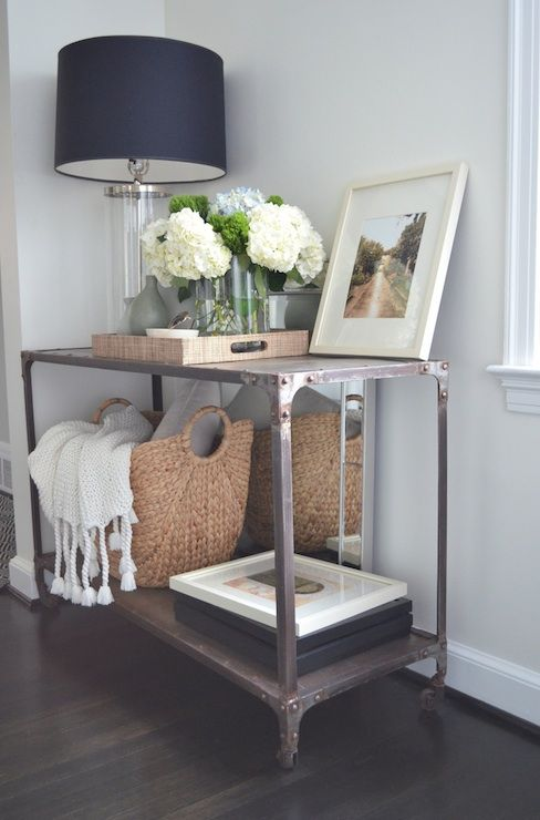 ideas for using baskets in the entryway