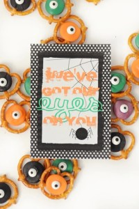"""Free Halloween Printable: """"We've Got Our Eyes on You"""" """"Boo""""ing Tag"""