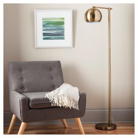 modern globe floor lamp