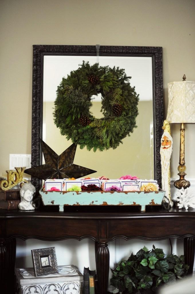 green and gold christmas decor 4