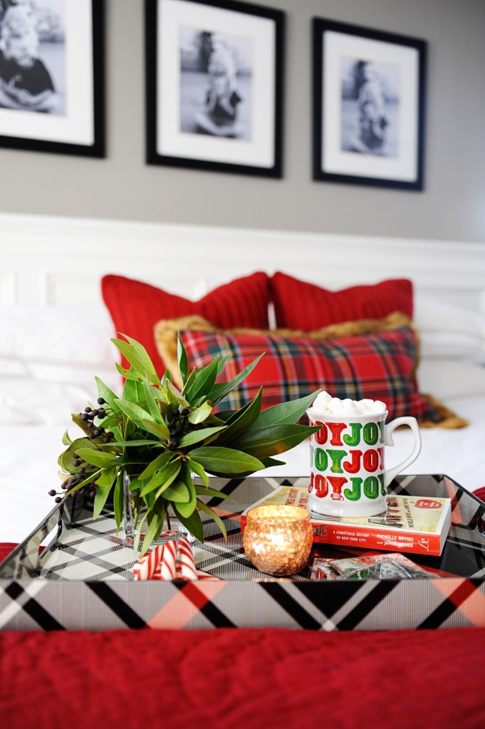 christmas master bedroom makeover holiday bedding