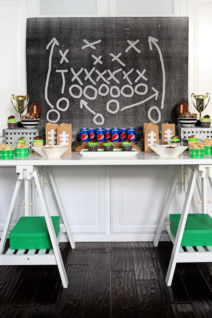 Football Party Table by Tammy Mitchell
