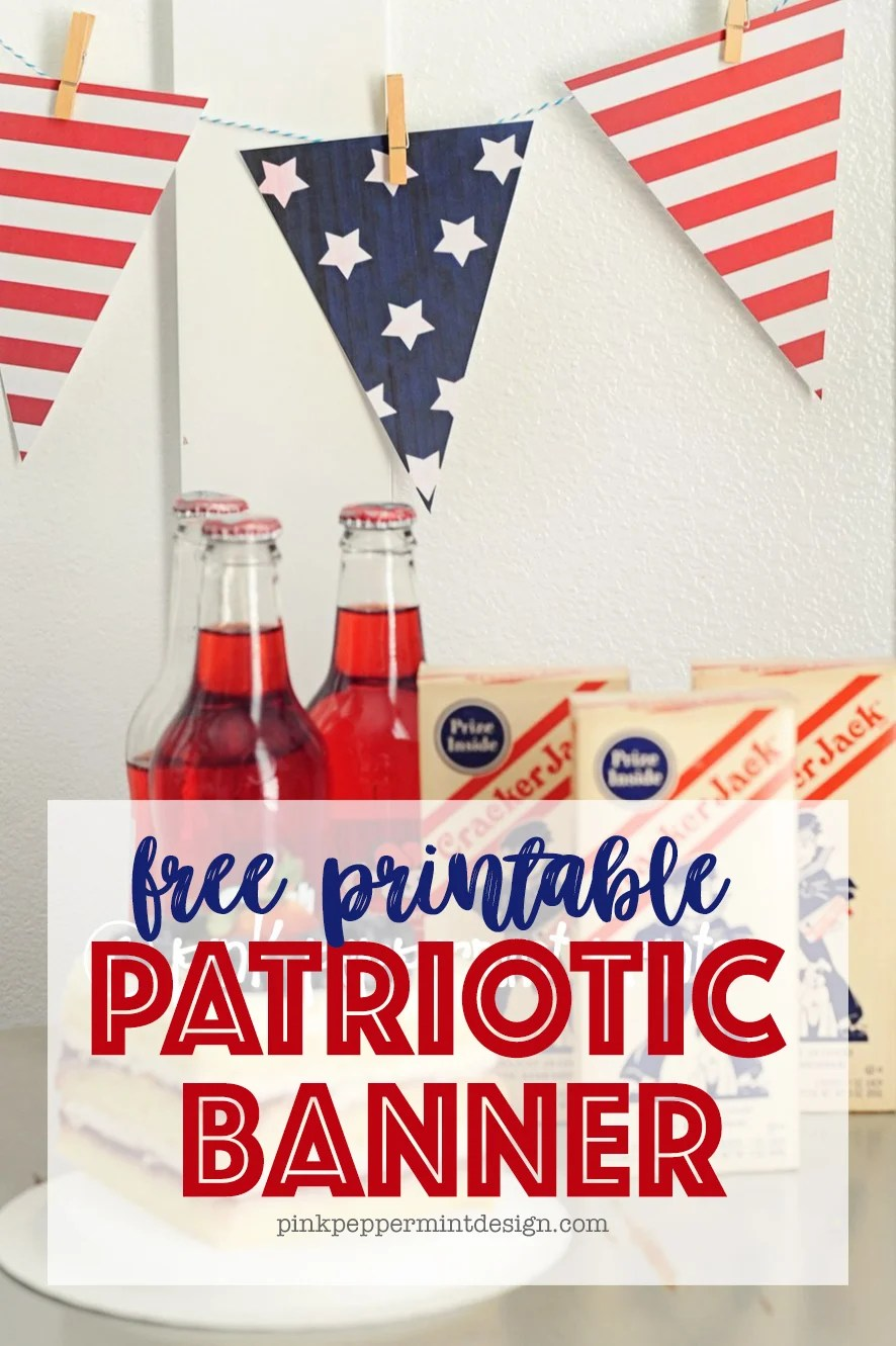 Free printable 4th of july banner