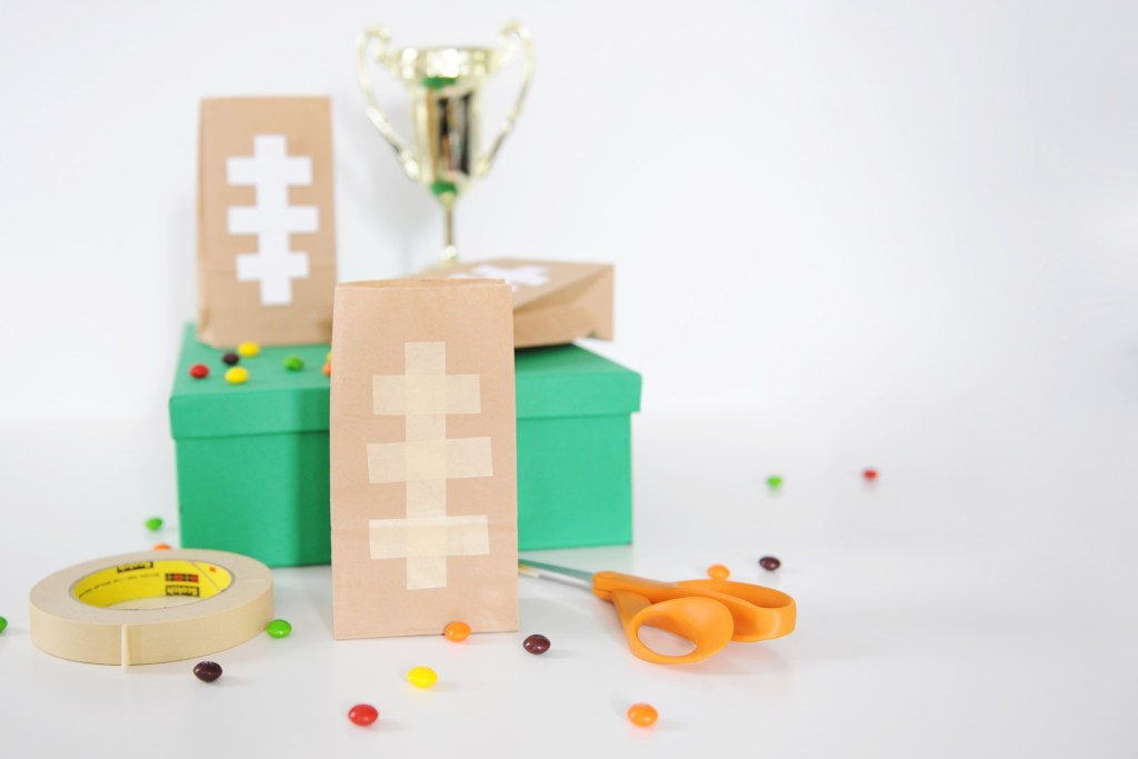 DIY football party snack bags