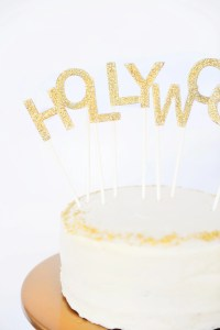 Easy Cake Topper Ideas: Hollywood Cake Topper