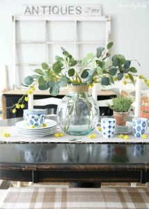 Easy spring decor via house by hoff