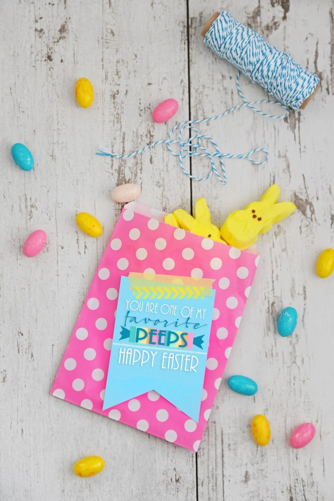 Peeps Favor Printable by Tammy Mitchell