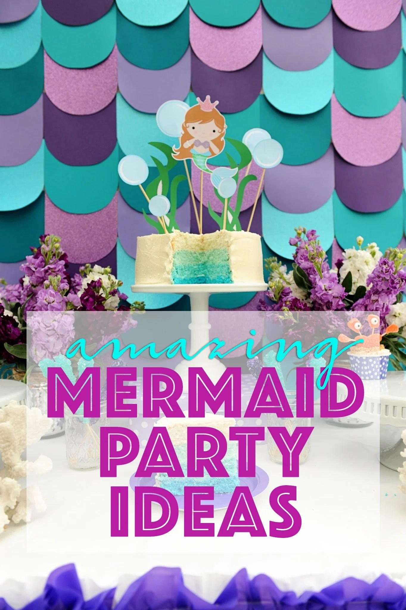 Mermaid Birthday / Pool Party Ideas DIY