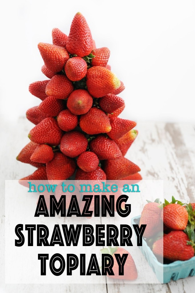 How to Make Fruit Decorations : An Easy Strawberry Topiary