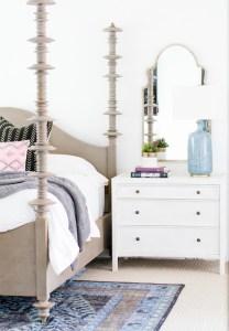 Bohemian modern spanish colonial master bedroom becki owens 111