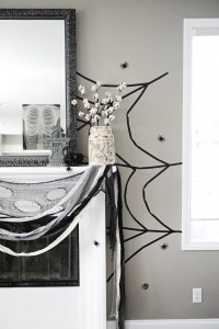 Halloween DIY: Create a Giant Washi Tape Spiderweb