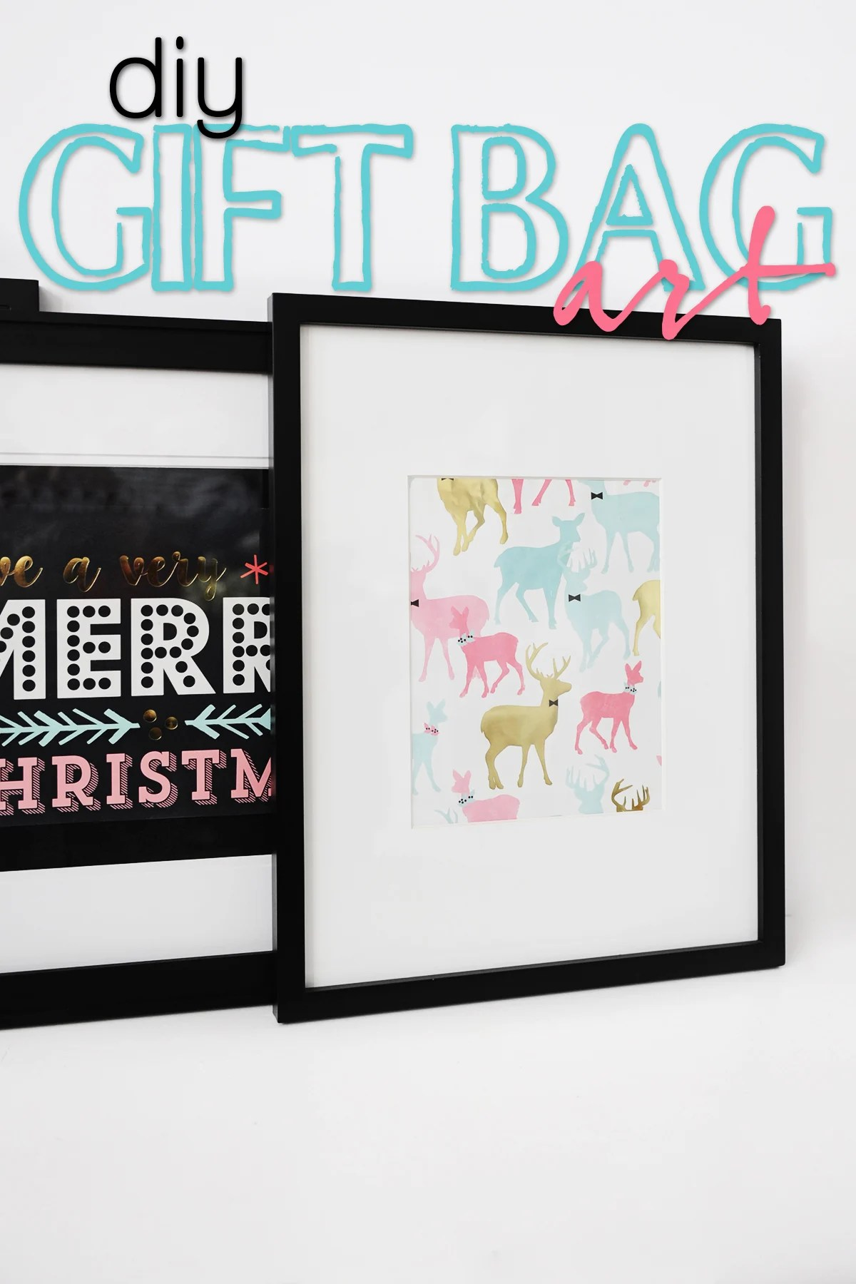 DIY Christmas Decor : Make Art from Gift Bags