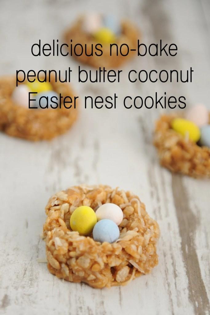 easter nest cookies
