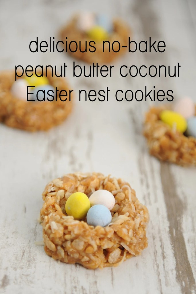 Peanut Butter Coconut Cookies | Easter Bunny Themed Treat Idea by Tammy Mitchell