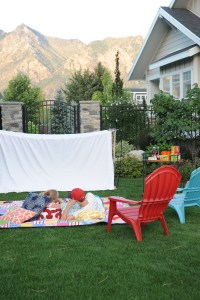 Summer Party Ideas : Outdoor Movie Night Party