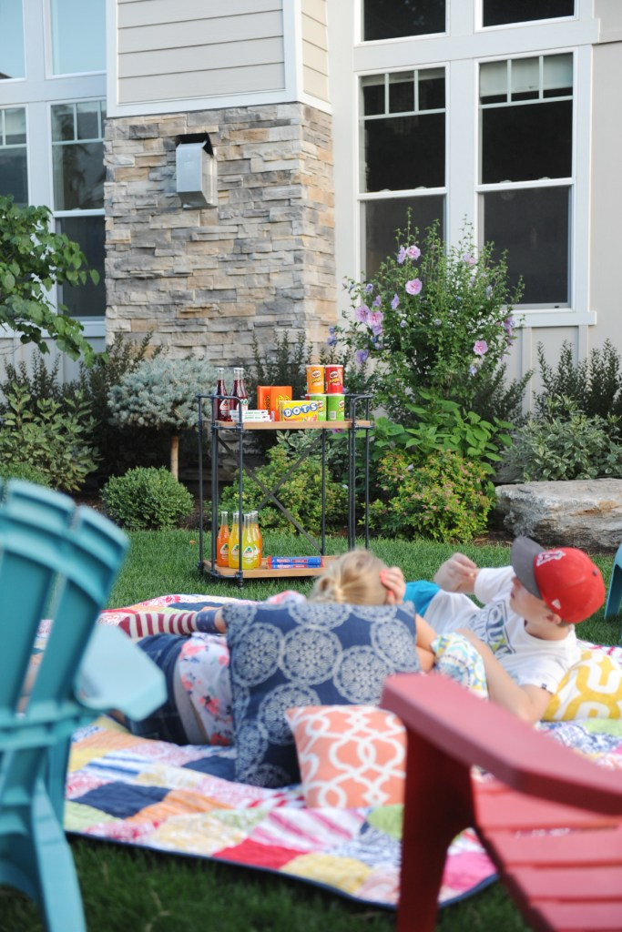 outdoor party ideas at night