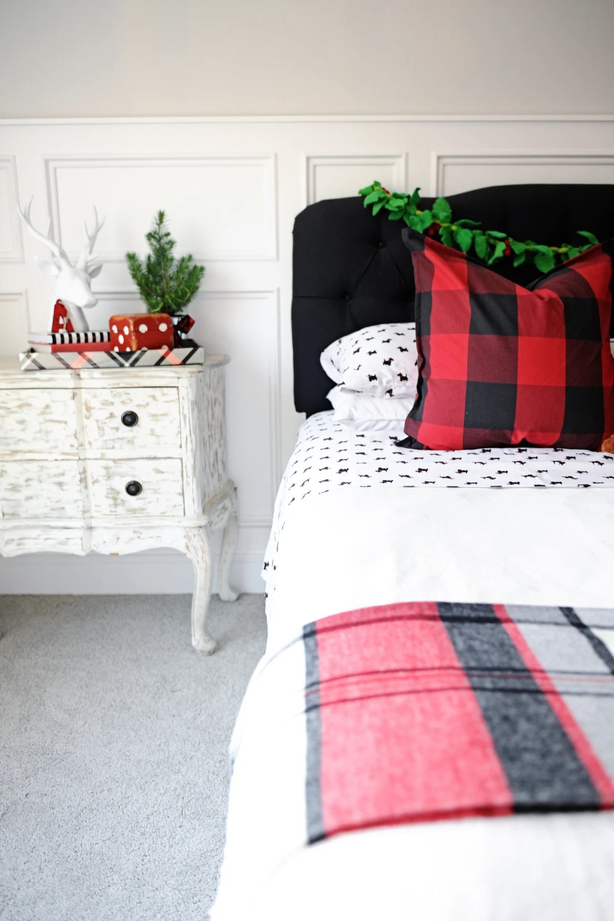 Christmas Bedroom Decor Ideas A Holiday Bedroom Pink Peppermint Design