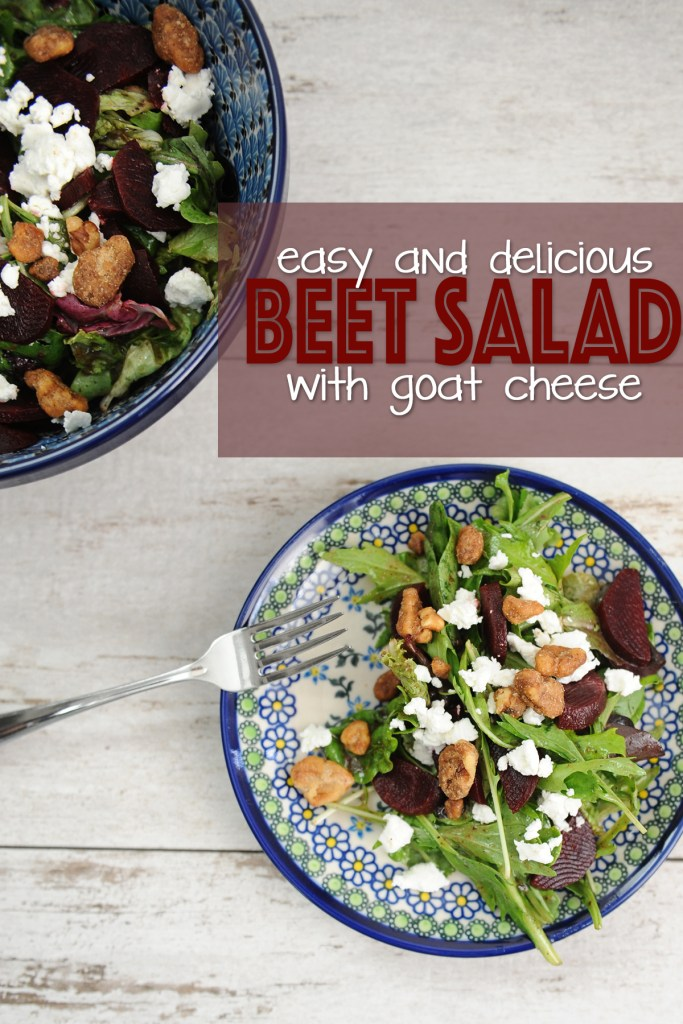 Beet salad with goat cheese pinterest