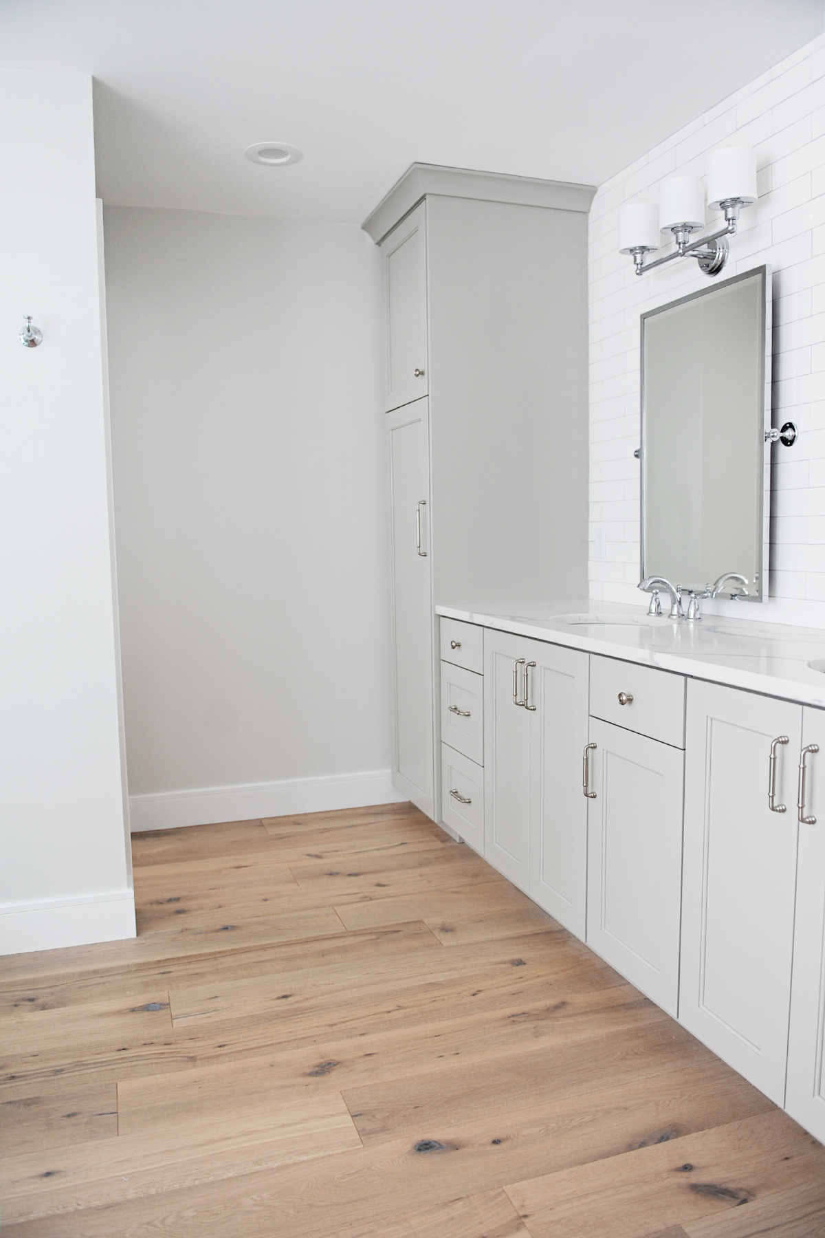 before and after master bathroom remodel