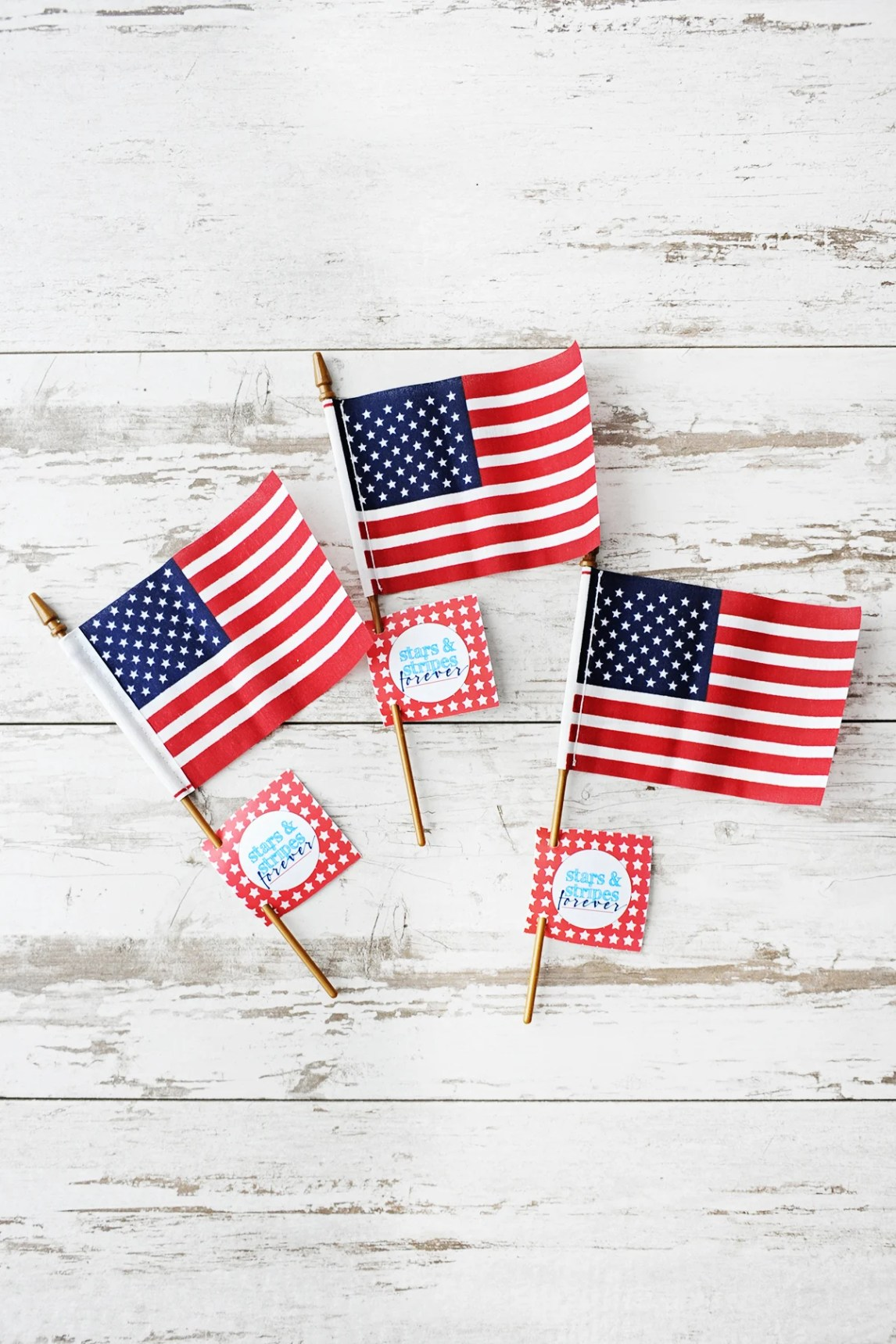 diy 4th of july printable party tags