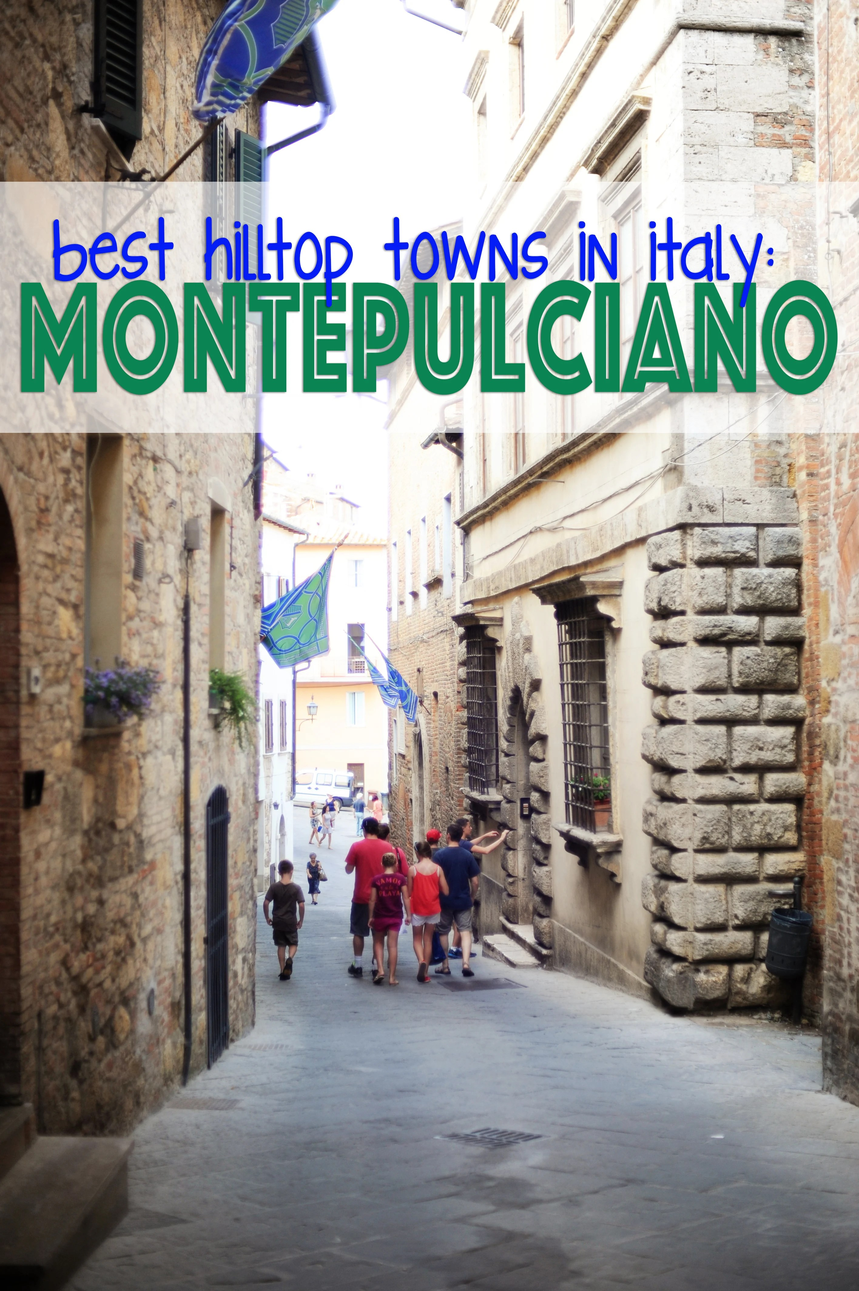 Montepulciano medieval towns in Italy