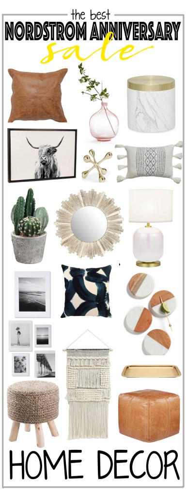 Nordstrom anniversary sale home decor with text