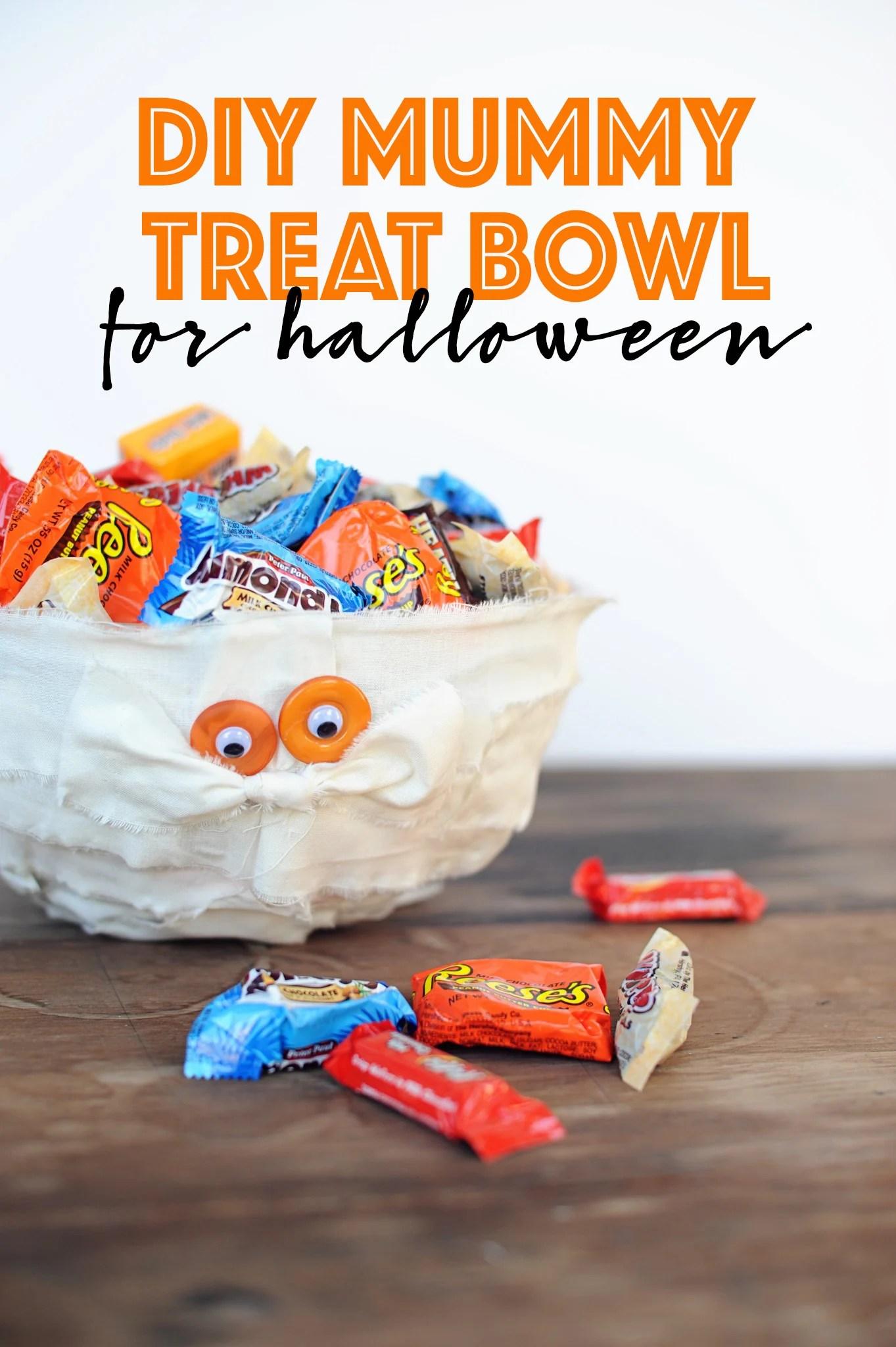 diy mummy bowl for halloween