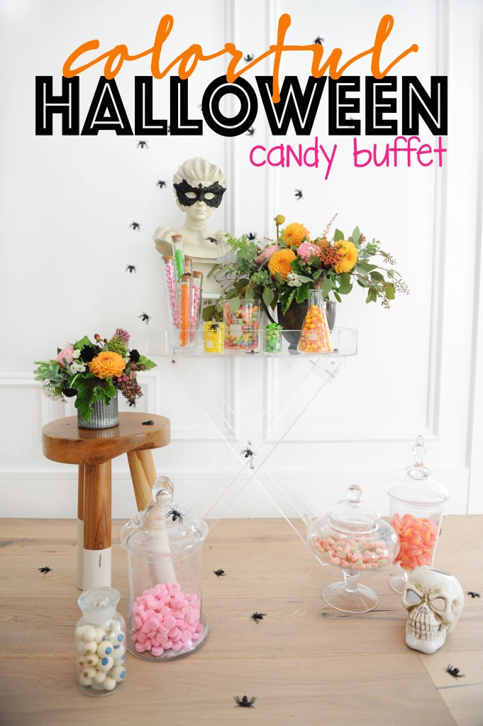 Colorful Halloween Party Candy Buffet Ideas