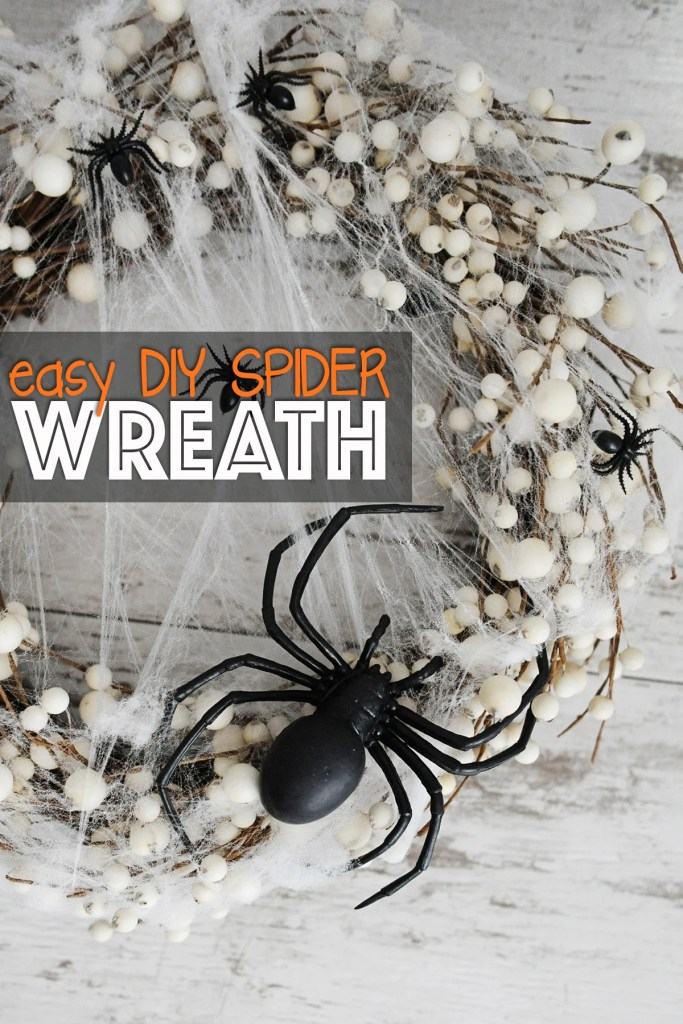 Easy DIY Spider Wreath for Halloween