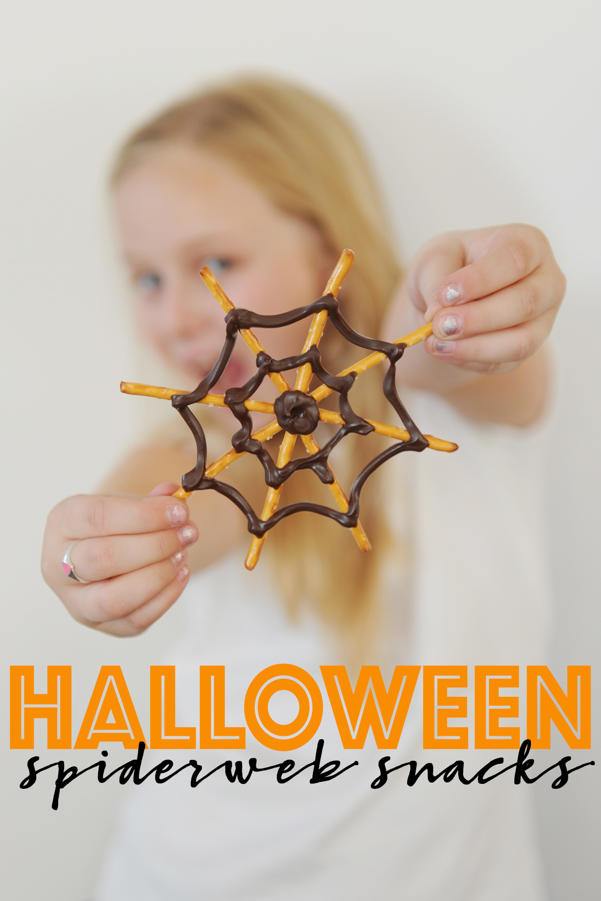How to Make Cute and Easy Halloween Spider Web Pretzel Treats