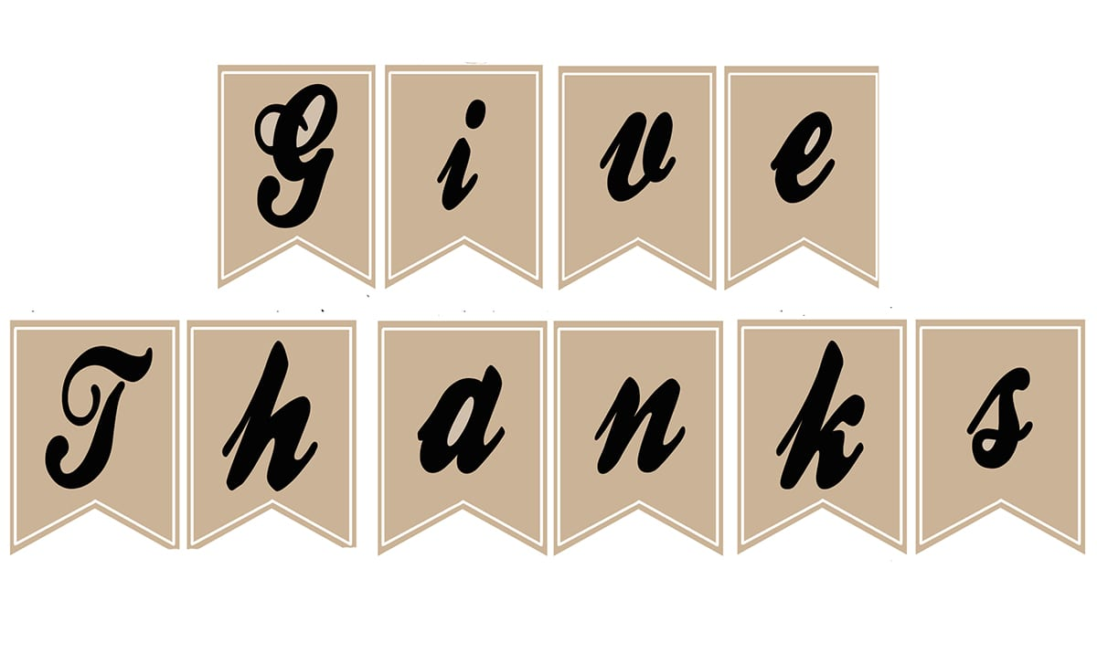 Free give thanks banner image for library