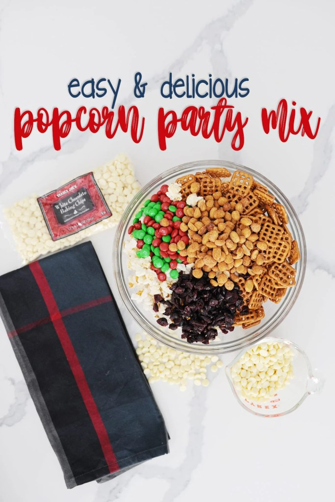 Delicious Popcorn Party Mix Idea and Recipe