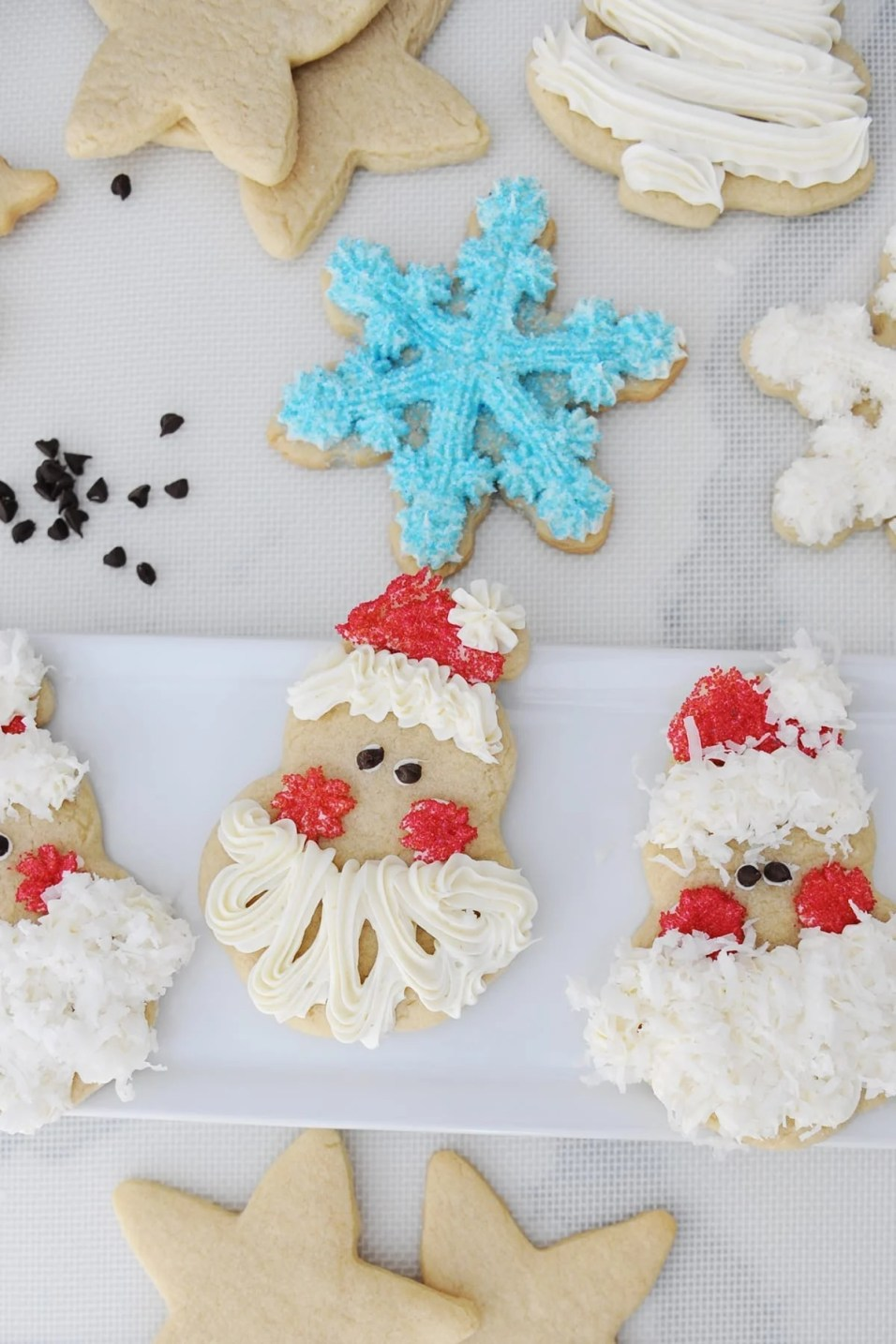 easy santa face christmas cookies