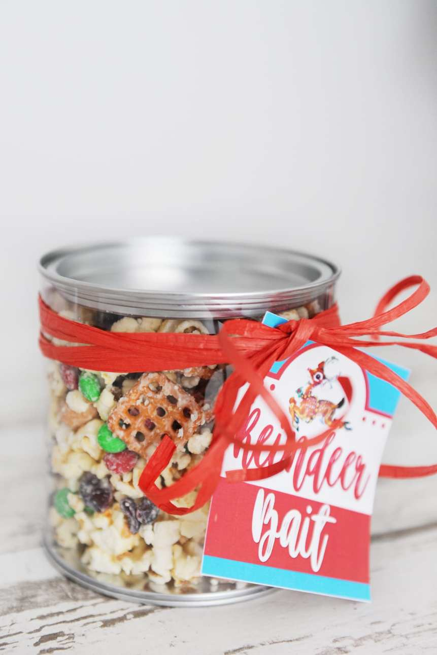free Christmas treat tags printable reindeer bait