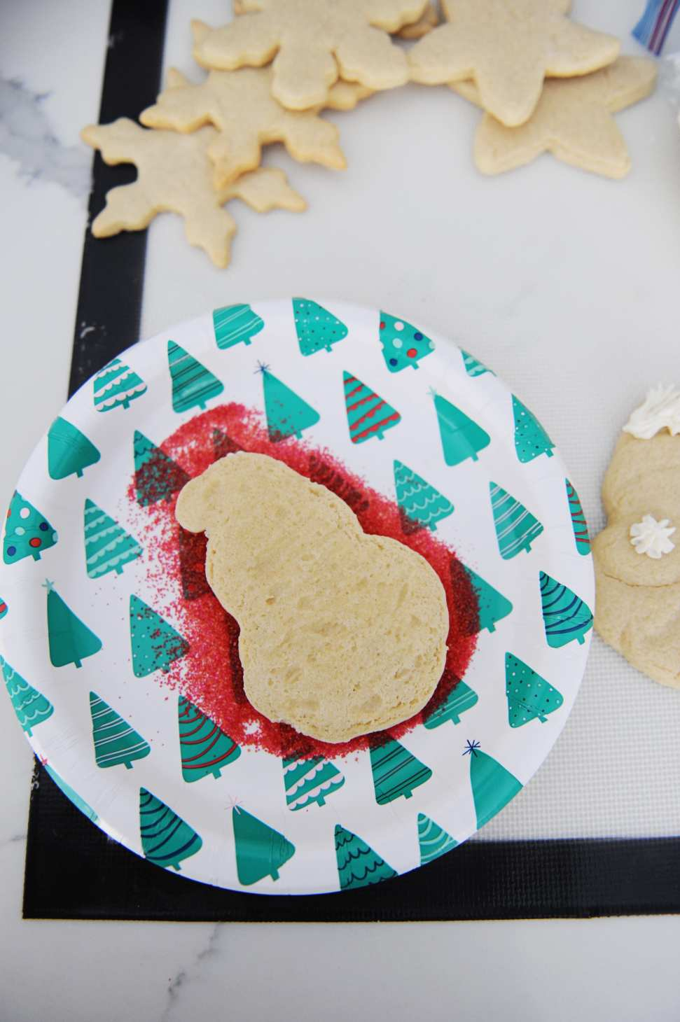 How To Decorate Easy Santa Face Christmas Cookies Pink Peppermint
