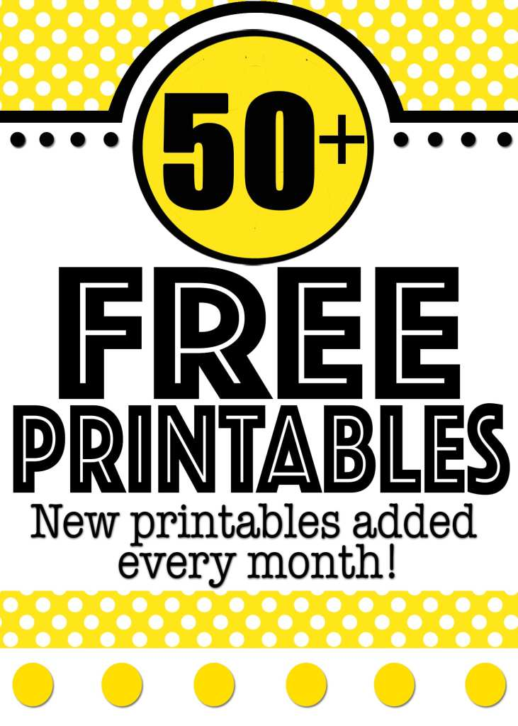 Free Printables Online for Every Occasion