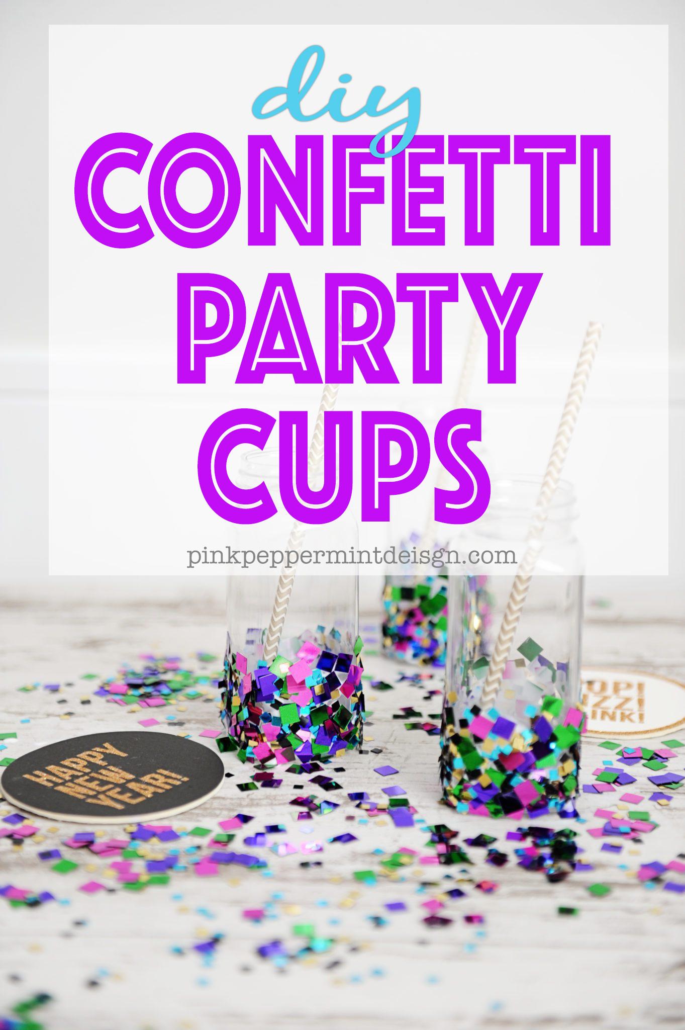 Confetti party cups