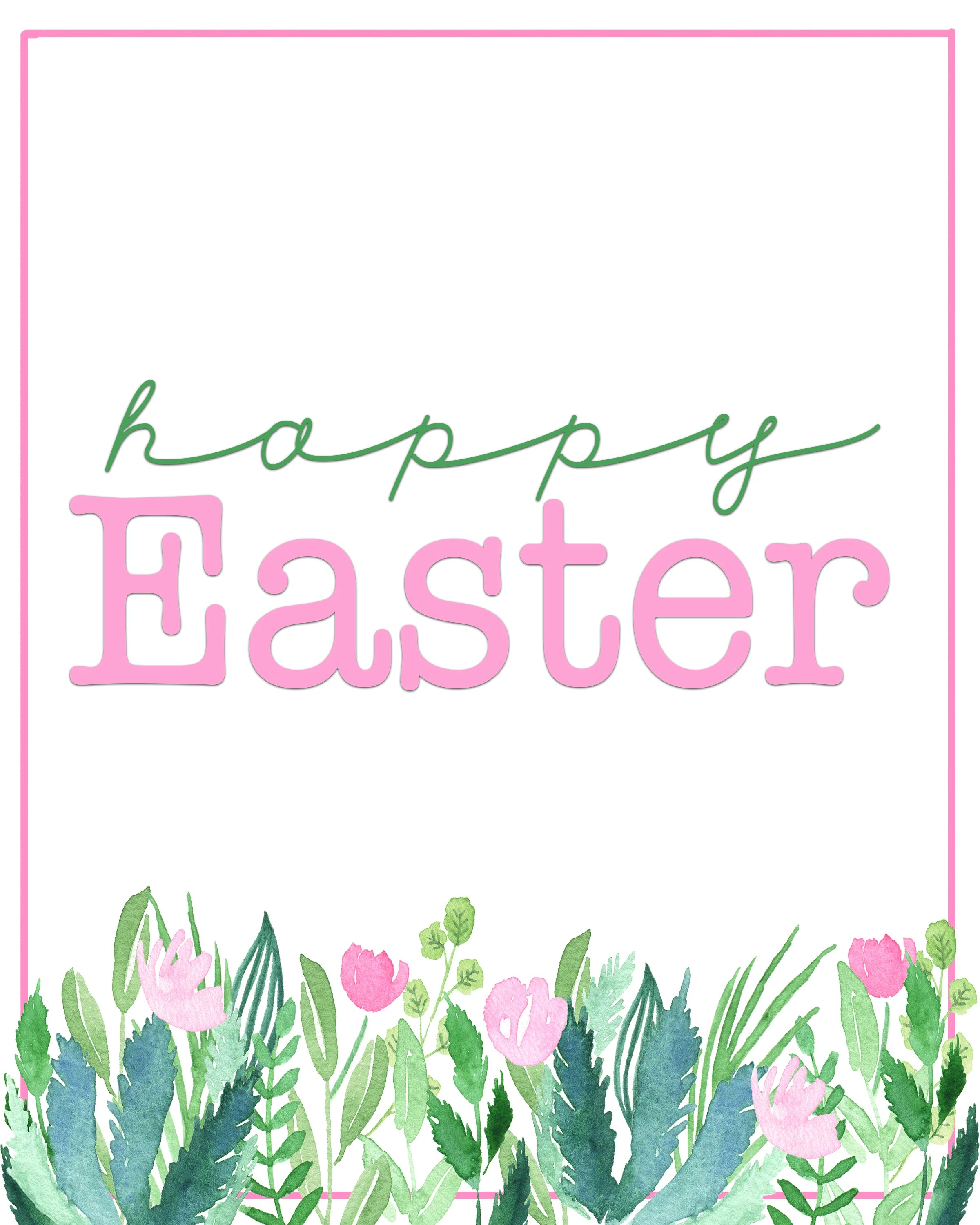image relating to Happy Easter Sign Printable referred to as Satisfied Easter Printables : Absolutely free Spring Printables - Crimson