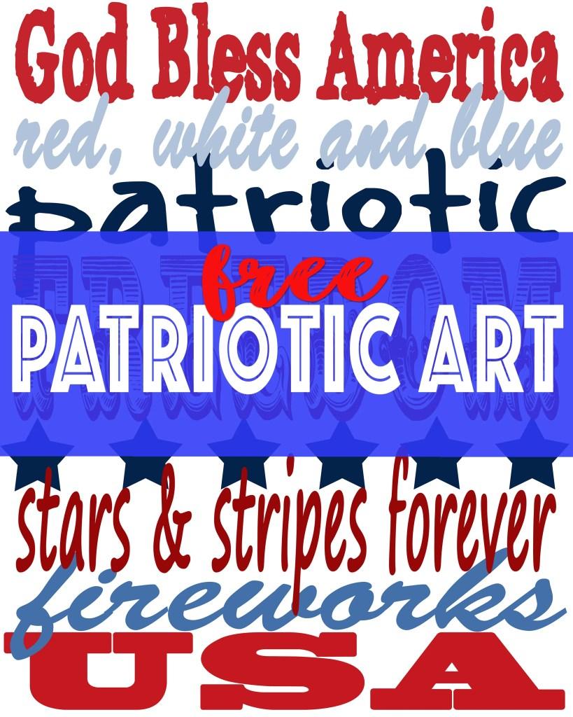 Patriotic Art : Free Patriotic Wall Art Print