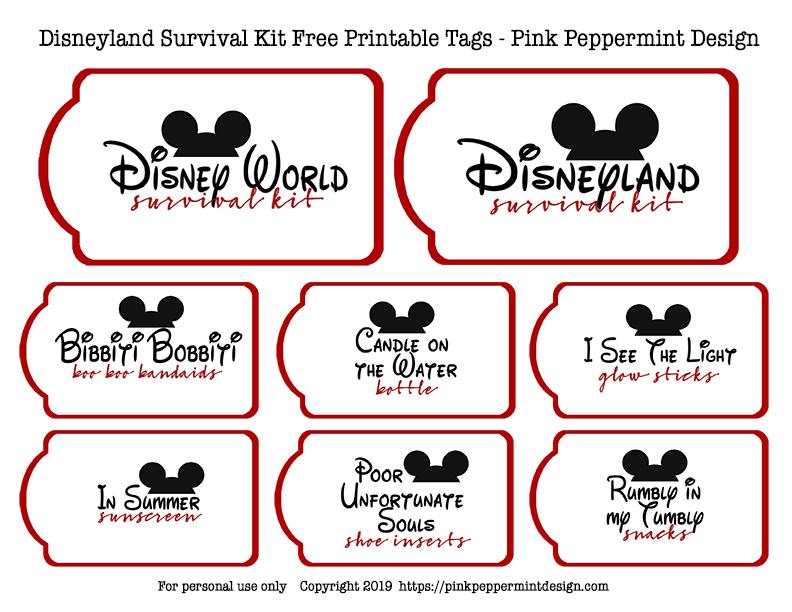disney free printable tags