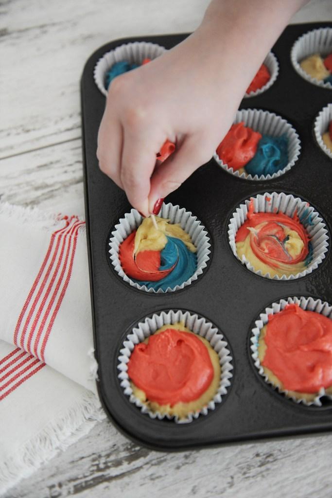 Tie dye cake mix 5